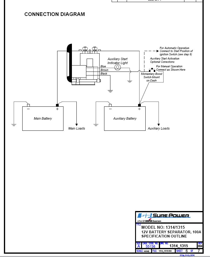 Surepower Connection Help W Diagram Boats Accessories Tow Vehicles