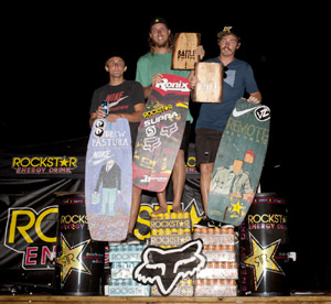 Battle Falls Pro Men Winners - Andrew Pastura (3rd), Reed Hansen (1st) and Ben Horan (2nd)