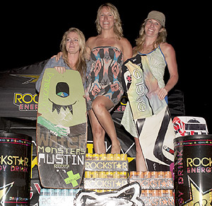 Battle Falls Pro Women Winners - Cassie Scott (3rd), Steph Wamsley (1st) and Renee Jacquess (2nd)
