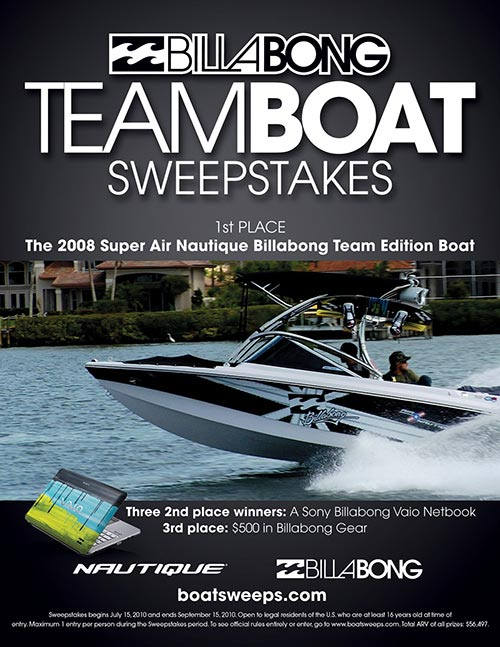 Billabong Team Boat Sweepstakes