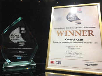 Correct Craft Boat Builder Award