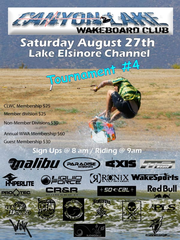 Canyon Lake Wakeboard Club - Tourney #4