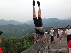 Austin gets inverted on The Great Wall