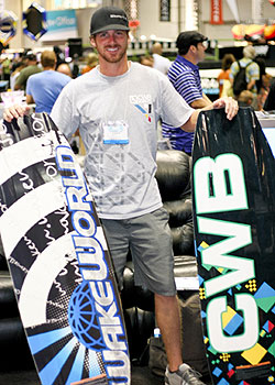 Andrew Adkison shows off the custom WakeWorld Edition CWB Transcend