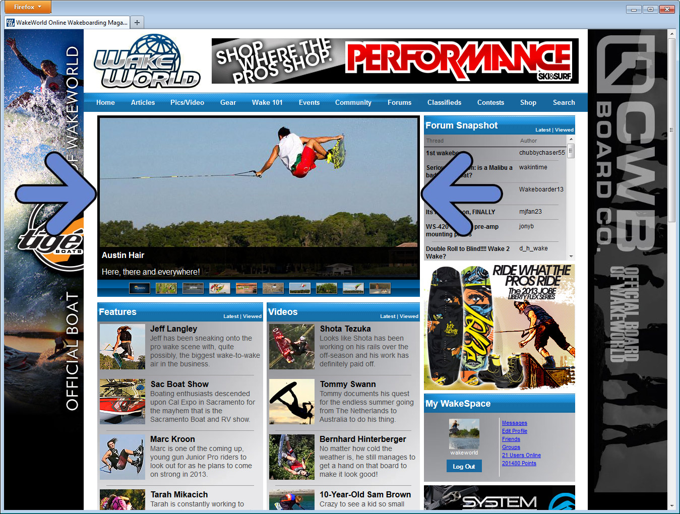 Home Page Content Window - 640x326
