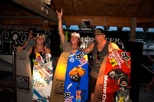 Brostock Winners - Steel Lafferty (2nd), Adam Errington (1st) and Rusty Malinoski (3rd)