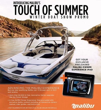 Malibu's Touch of Summer Winter Boat Show Promo