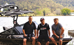 Nautique Central owners with Scotty Kell
