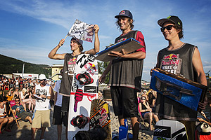 Red Bull Wake Of Steel Winners - Raph Derome (2nd), Dominik Hernler (1st), Nico von Lerchenfeld (3rd)