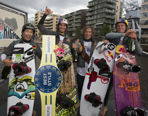 Red Bull Rising High Winners - Nico von Lerchenfeld (4th), Dominik Hernler (2nd), Raph Derome (1st), Dominik Guhrs (3rd)