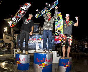 Wake of Fame Winners - Kevin Henshaw (2nd), Nico von Lerchenfeld (1st) and JD Webb (3rd)