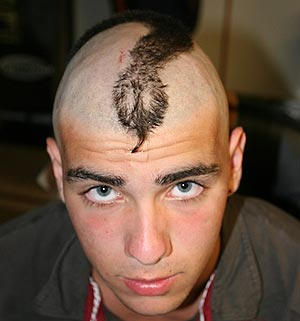 Yeah... I  shaved a snake into his head. Sorry Max.
