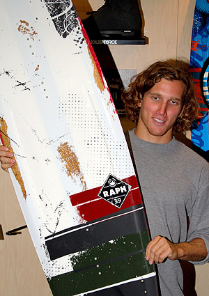Raph Derome and his 2014 Raph pro model