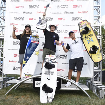 Pro Tour Overall Wakeboard Winners - Tony Iacconi (2nd), Mike Dowdy (1st) and Cory Teunissen (3rd)