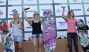Pro Women Winners - Maxine Sapulette (2nd), Ange Schriber (1st) and Astrid Schabransky (3rd)