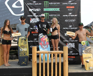 Pro Wakeskate Winners - Reed Hansen (2nd), Brian Grubb (1st), James Balzer (3rd)